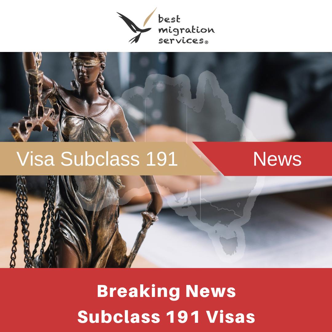 BMS - subclass 191 news