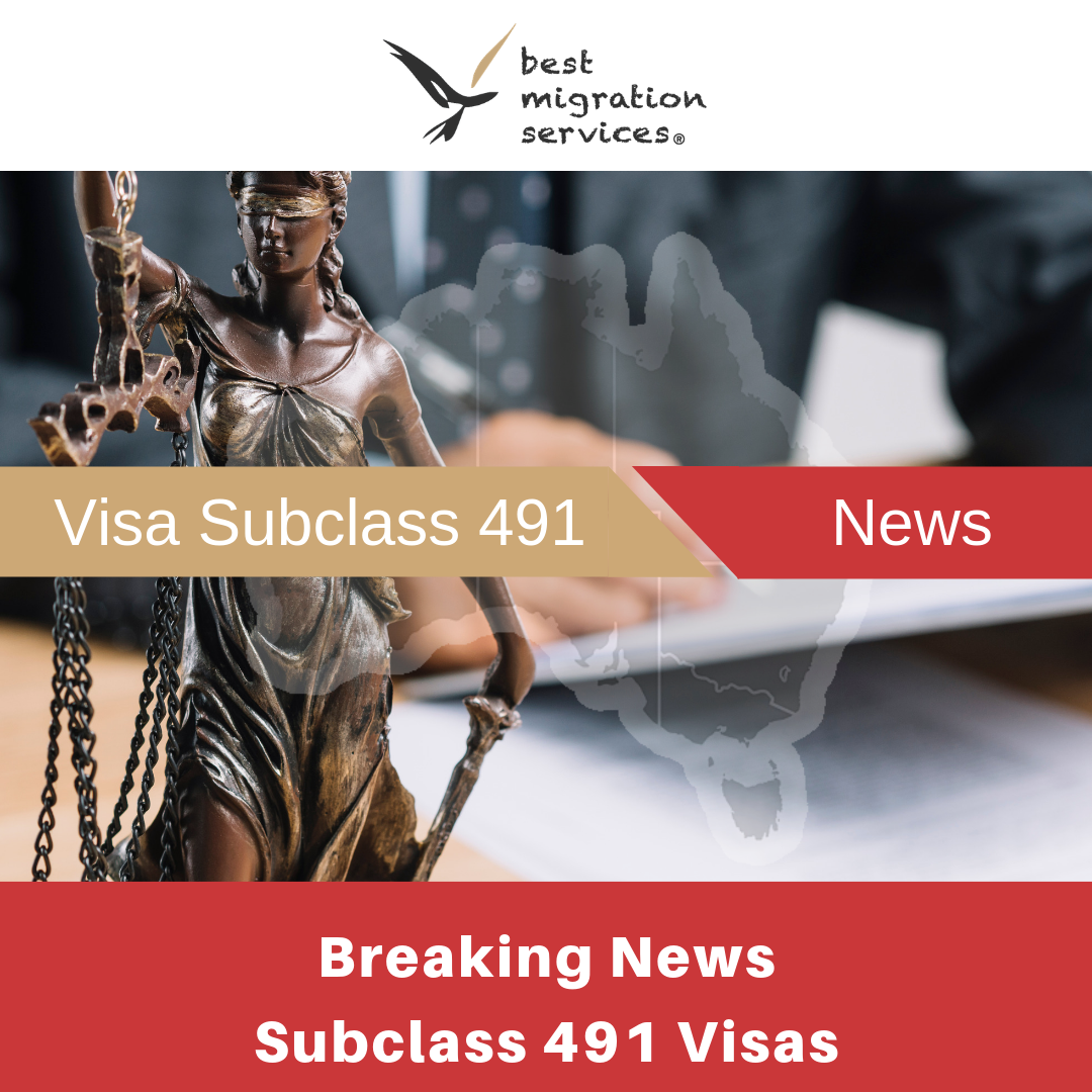 BMS - subclass 491 news